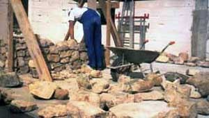 construction mur en pierres
